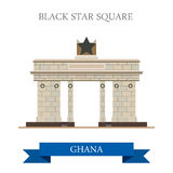 Black Star Square in Accra Ghana flat vector illus Royalty Free Stock Images
