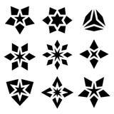 Black star symbols Stock Photos