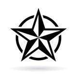 Black star vector shape. Illustration Stock Image