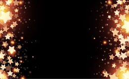 Black starry background. Black starry background with stars confetti. Vector paper illustration Royalty Free Stock Photos