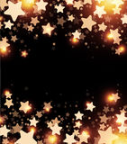 Black starry background. Black starry background with stars confetti. Vector paper illustration Royalty Free Stock Photography