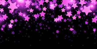 Black starry banner. Black starry banner with stars confetti. Vector paper illustration Stock Image