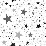 Black stars pattern on white background. Royalty Free Stock Photo