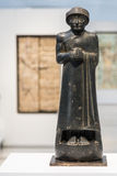 Black statue of a manin the Louvre Lens Royalty Free Stock Image