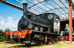 Black Steam Engine Royalty Free Stock Images