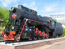 Black steam locomotive Royalty Free Stock Images