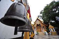 Black steel bell in thailand temple Royalty Free Stock Photos
