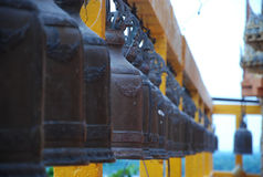 Black steel bell in thailand temple Stock Photography
