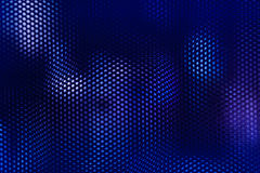 Black steel mesh and blue lighting abstract background Royalty Free Stock Image