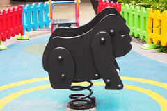 Black steel playground toy Stock Image