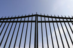 Black Steel Security Gates Royalty Free Stock Images