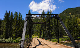 Black Steel spans Gallatin River Stock Photography