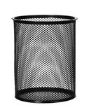 Black steel waste bin isolated. On white background Royalty Free Stock Image