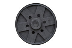 Black steel wheel Stock Photo
