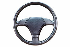 Black steering wheel Royalty Free Stock Photos