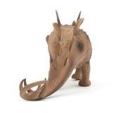 Black Stegosaurus dinosaur isolated Stock Photography