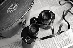 Black Stelar Binocular With Bag Royalty Free Stock Images