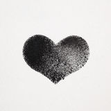 Black stenciled heart Royalty Free Stock Photography