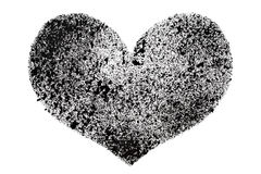 Black stenciled heart Royalty Free Stock Photos