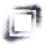 Black stenciled squares Royalty Free Stock Image