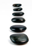 Black stepping stones Royalty Free Stock Image