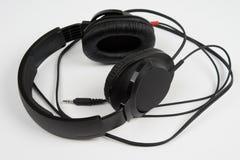 Black stereo headphones Stock Image