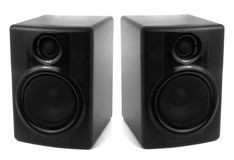 Black stereo speakers Royalty Free Stock Photo