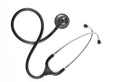 Black stethoscope Stock Photos