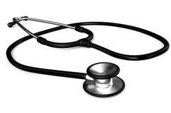 Black stethoscope. Isolated on white background Stock Photography