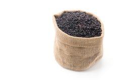 Black sticky gaba rice Stock Photo