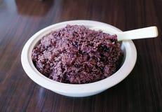 Black sticky rice Stock Image