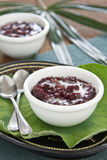 Black sticky rice with coconut milk [Thai dessert Stock Images