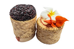 Black sticky rice isolate white background with clipping path Royalty Free Stock Photos