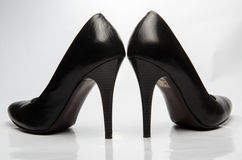 Black stiletto High Heels Shoe Stock Image