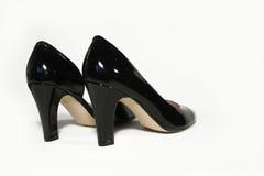 Black Stiletto High Heels on white background. Black Stiletto High Heels isolated Stock Photo