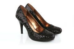 Black stiletto shoes Stock Image