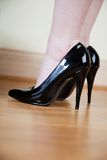 Black stilettos Stock Photo
