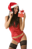 Black stocking Stock Images