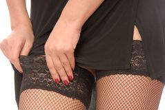 Black stockings Royalty Free Stock Photography