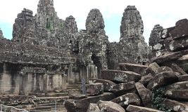 The Black Stone of Angkorwat Temple. There is the temple of angkorwat, that used by monk to make ceremonial in prehistorical moment stock image