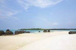 Black stone beach Stock Photography