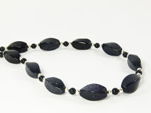 Black stone bead necklace Royalty Free Stock Photography
