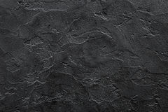 Black stone concrete textured wall for background copyspace Stock Photo