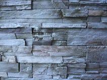 Black Stone decoration. Black stone outdoor wall decoration Stock Photography