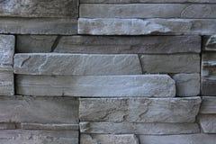 Black Stone decoration. Black stone outdoor wall decoration Stock Photos