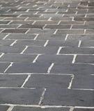 Black stone floor Stock Images