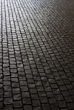 Black stone footpath Stock Image