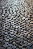 Black stone footpath Royalty Free Stock Images