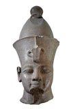 Black stone head of an egyptian pharaoh Royalty Free Stock Photography