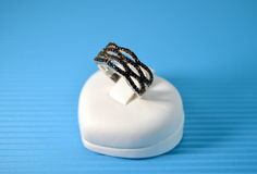 Black stone ring jewelry Royalty Free Stock Photo